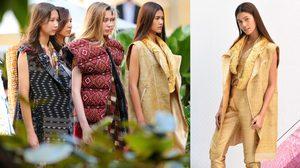'แนท-อนิพรณ์' สวยเลอค่า ฟินาเล่!! แฟชั่นผ้าไทย 'From Weaving Street to Today Life's Craft'