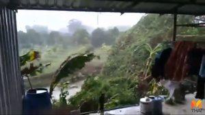 พายุงวงช้างถล่มสวนทุเรียนไม่ถึง 5 นาที เสียหายหลักล้านบาท