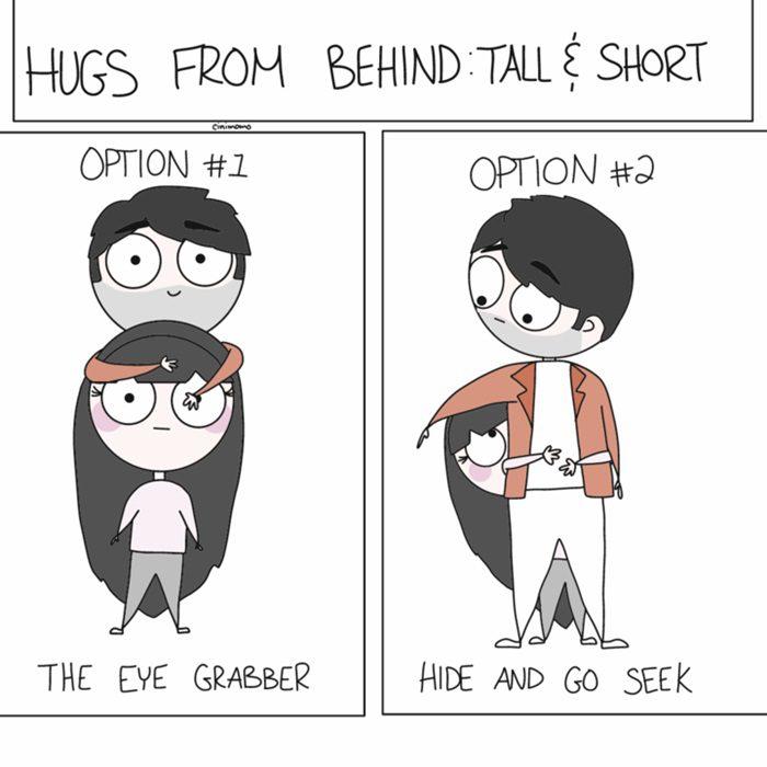 คู่รัก : ผู้ชายตัวสูงกับผู้หญิงตัวเล็ก