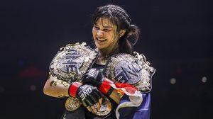 แสตมป์ สอยเพิ่มอีกเส้น! หลังคว้าเข็มขัดแชมป์มวยไทยในศึก ONE: CALL TO GREATNESS