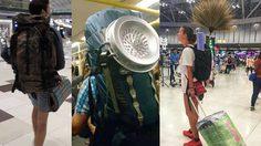 ของดีเมืองไทย!! นักท่องเที่ยงสาวเหน็บ ไม้กวาด กลับประเทศ จนถูกแชร์สนั่น