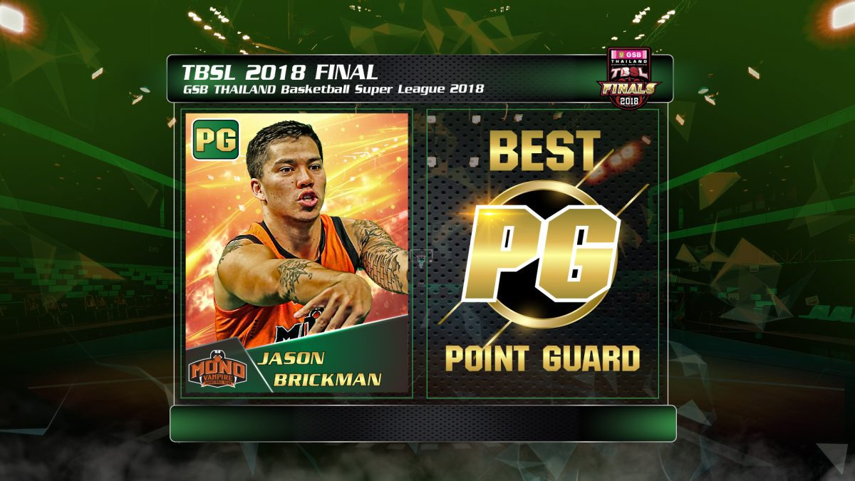 Best Point guard (PG) GSB Thailand Basketball Super League 2018  (import) : Jason Alexander Brickman