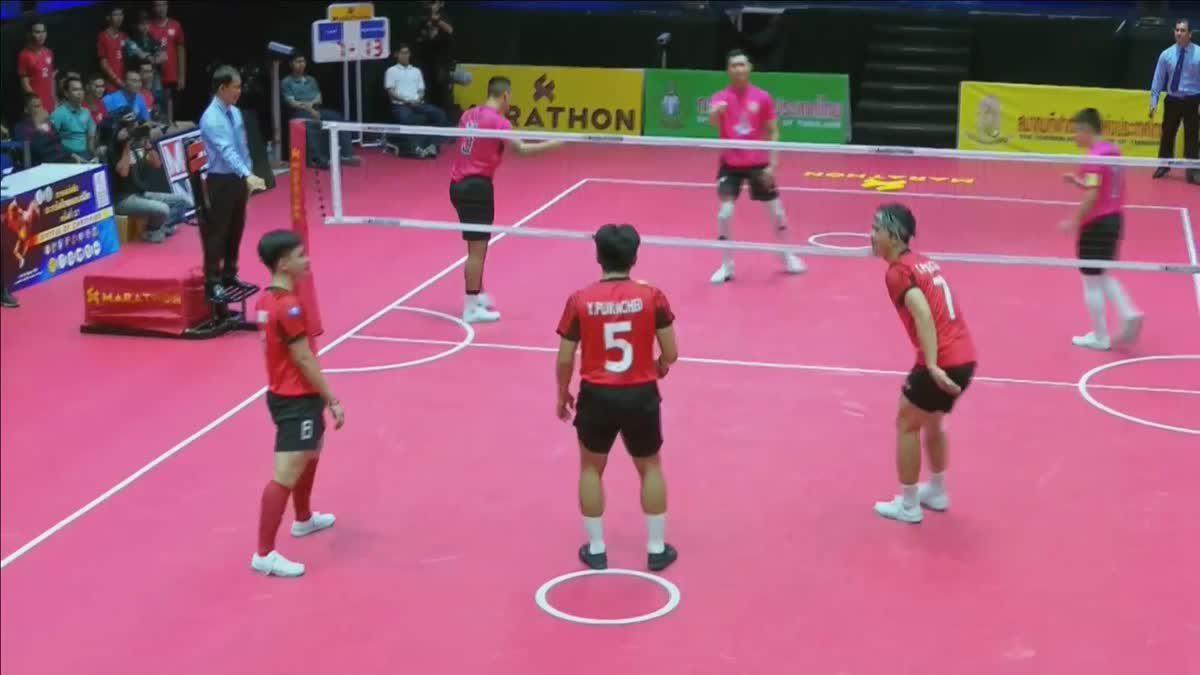 คู่ที่ 1 ทีม B : สโมสรเซปักตะกร้ออาชีพ จ.แพร่ VS สโมสรตะกร้ออาชีพ ม.กรุงเทพธนบุรี (15-09-2018)