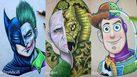ศิลปินวาดภาพ รวมตัวละคร สองตัวในหนึ่งภาพ บอกเลยว่างานละเอียดมาก