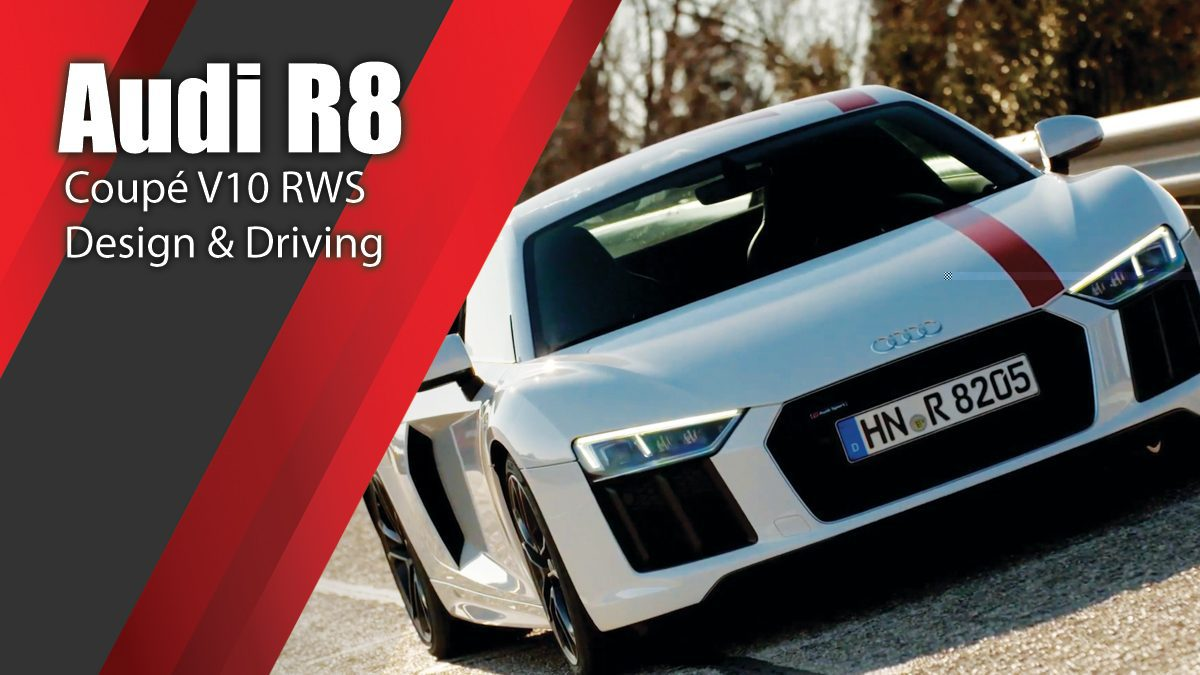 Audi R8 Coupé V10 RWS - Design & Driving demo on the track