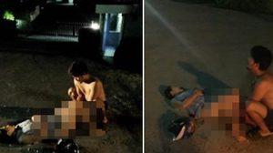หนุ่มทำคลอดแฟนสาวกลางถนน หลังซ้อนรถจักรยานยนต์ไปส่งโรงพยาบาลไม่ทัน