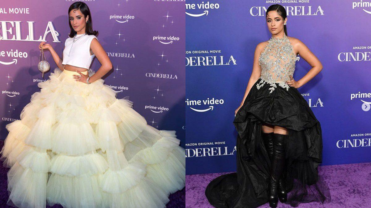 2ลุค2สไลต์ จาก Camila Cabello บนพรมแดง รอบพรีเมียร์ Cinderella
