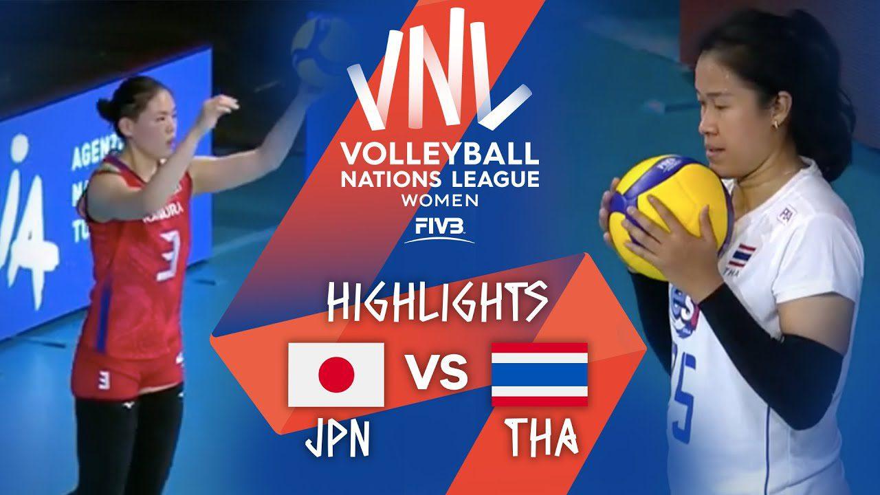 คลิปไฮไลท์ ญี่ปุ่น vs ไทย วอลเลย์บอลหญิง เนชันส์ลีก 2021