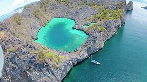 """ดินแดนแห่งความรัก ที่ """"เกาะค๊อกคอม"""" ประเทศพม่า เกาะหัวใจมรกต"""