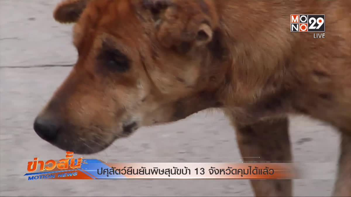 ปศุสัตว์ยืนยันพิษสุนัขบ้า 13 จังหวัดคุมได้แล้ว