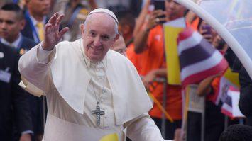 สมเด็จพระสันตะปาปาฟรังซิสเสด็จหอประชุมจุฬาฯ พบปะผู้นำศาสนาอื่นๆ
