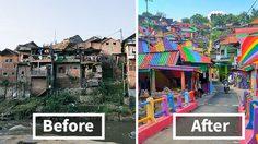 หน้ามือเป็นหลังมือ! อินโดฯ เปลี่ยนสลัมเป็นหมู่บ้านสุดคัลเลอร์ฟูล