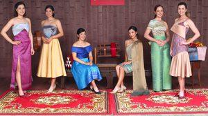 """ยลโฉม 6 โปรสาว สวมผ้าไหมไทย แสดงเอกลักษณ์ประเทศ ก่อนสู้ศึก """"ฮอนด้า แอลพีจีเอ ไทยแลนด์ 2019"""""""