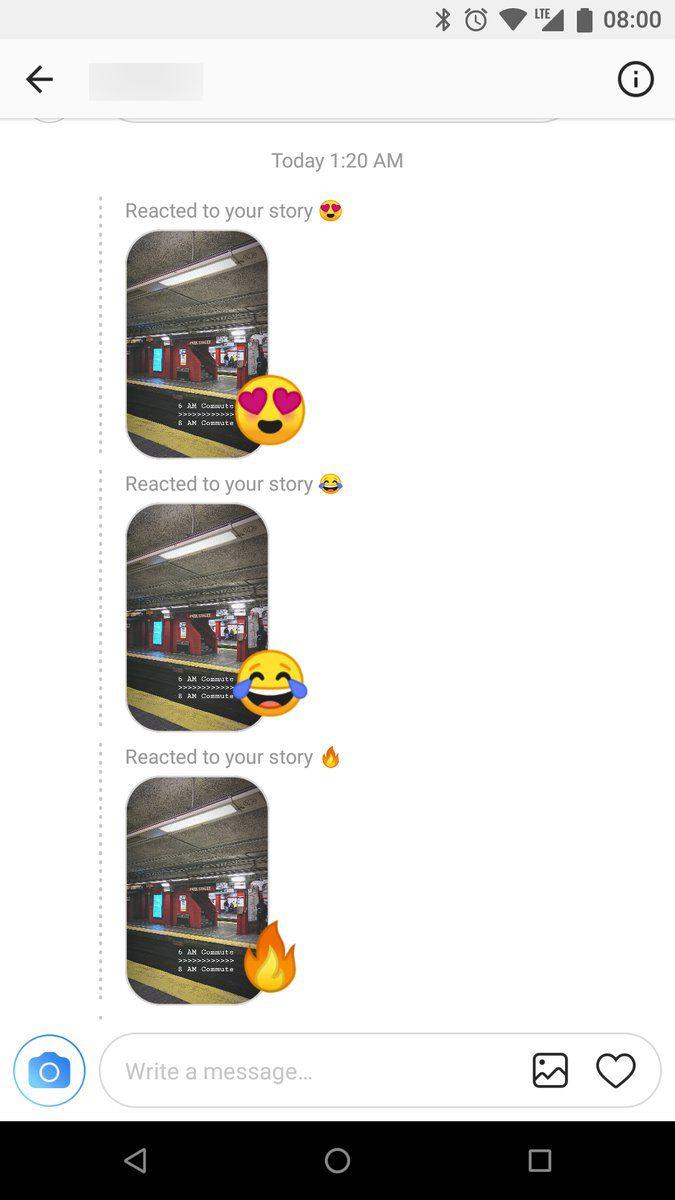 ฟีเจอร์แสดงความรู้สึก บน Instagram