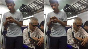 ชื่นชม! หนุ่มสละที่นั่งบนรถไฟให้คุณลุงตาบอด พร้อมดูแลจนถึงปลายทาง