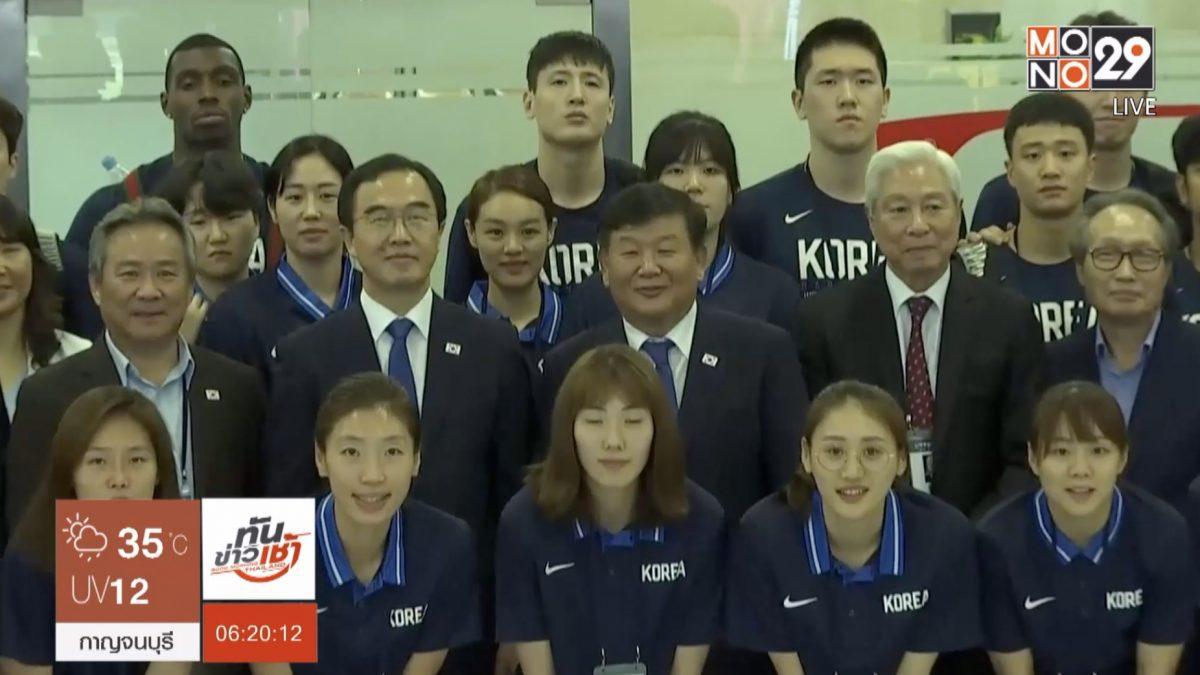สองเกาหลีจับมือเตรียมแข่งบาสเก็ตบอล