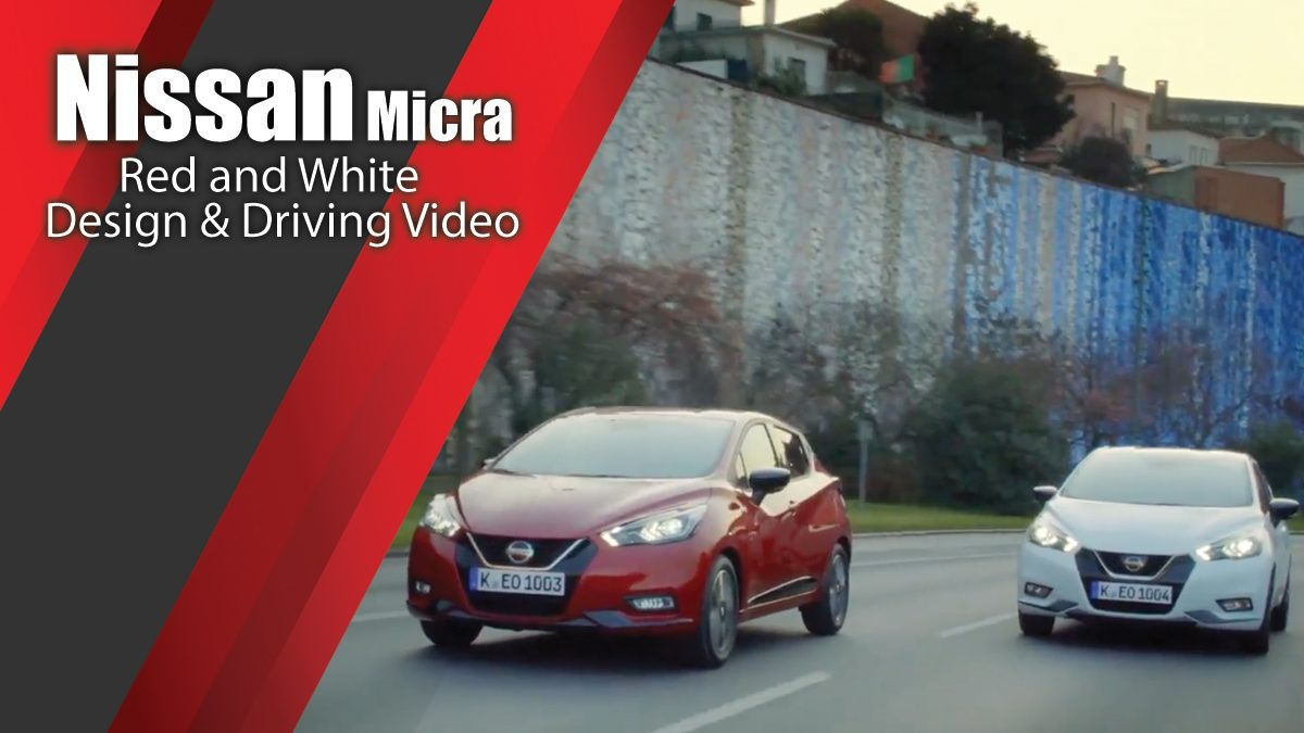 The new Nissan Micra in Red and White Design & Driving Video