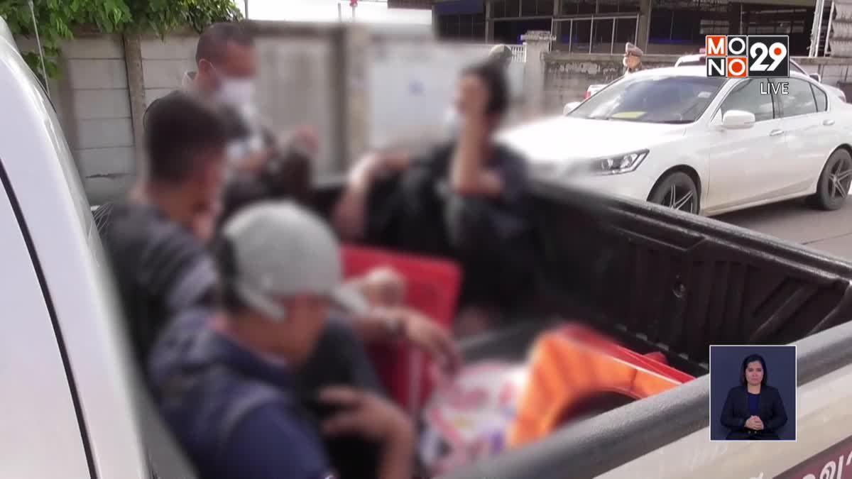 โดนจับขึ้นรถกระบะตำรวจ สะเดาะกุญแจมือโดดหนีลงพลาด