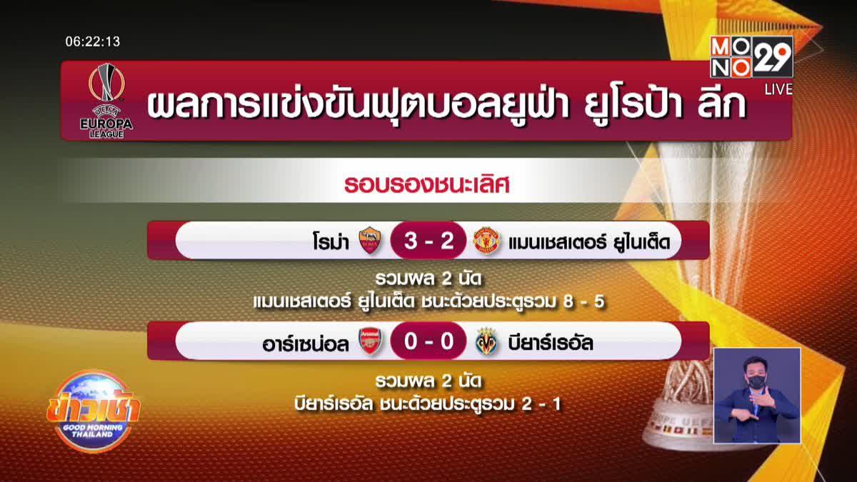 ผลการแข่งขันฟุตบอลยูฟ่า ยูโรป้าลีก รอบรองชนะเลิศ