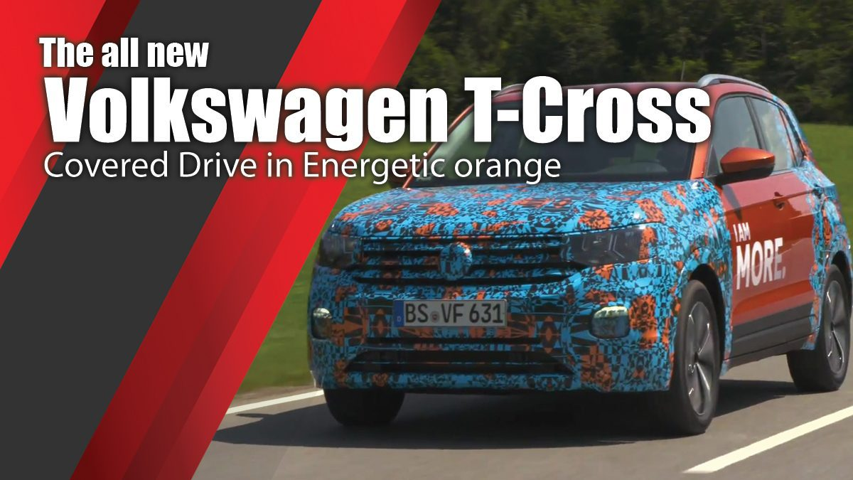 The all new Volkswagen T-Cross - Covered Drive in Energetic orange