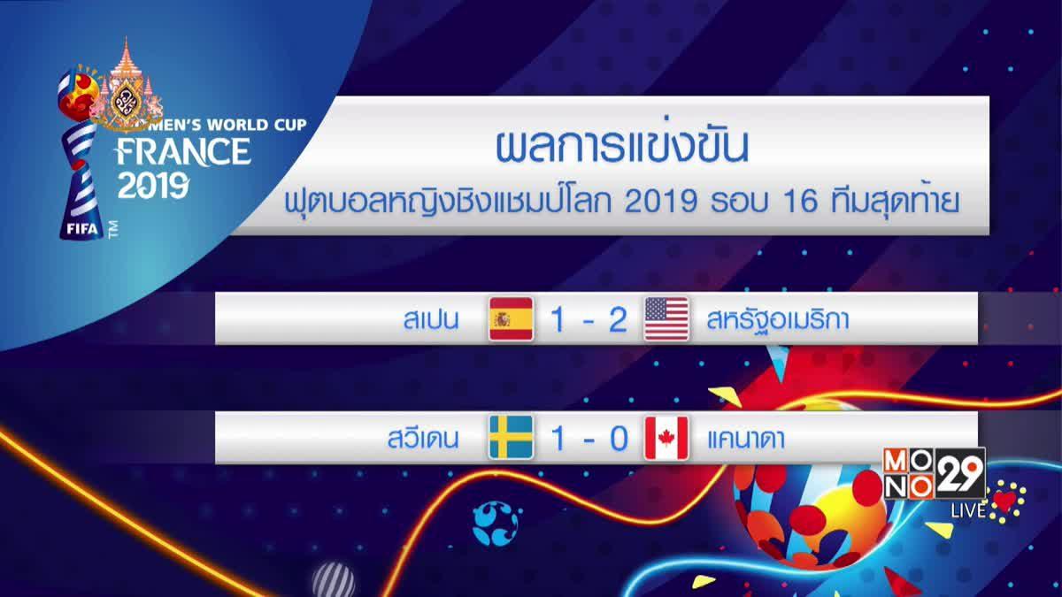 ผลการแข่งขันฟุตบอลหญิงชิงแชมป์โลก 2019