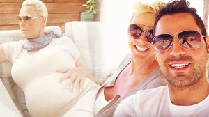 54 ก็ท้องได้ นักแสดงรุ่นใหญ่ Brigitte Nielsen โพสต์ภาพอุ้มท้อง กับสามีวัย 38 ปี