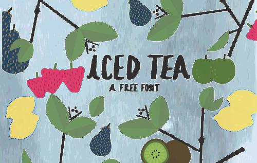 Iced Tea- A Free Font