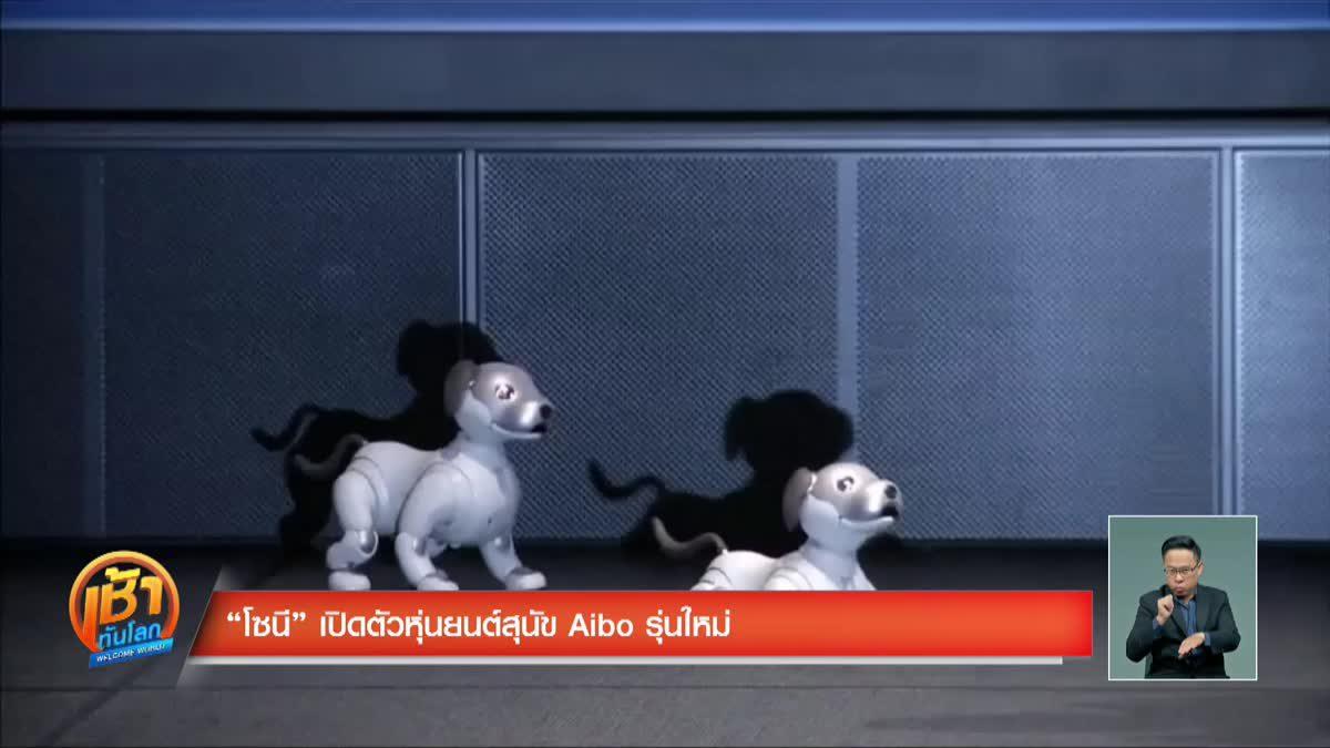 """""""โซนี"""" เปิดตัวหุ่นยนต์สุนัข Aibo รุ่นใหม่"""
