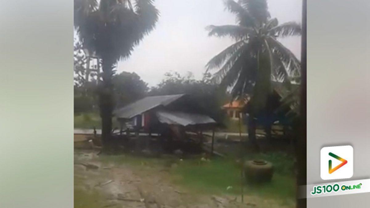 คลิปฝนตกและลมกระโชกแรงล่าสุดที่ อ.หัวไทร จ.นครศรีธรรมราช (04-01-62)