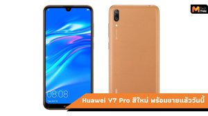Huawei Y7 Pro 2019 สีน้ำตาลเรียบหรู ราคาเพียง 3,999 บาท