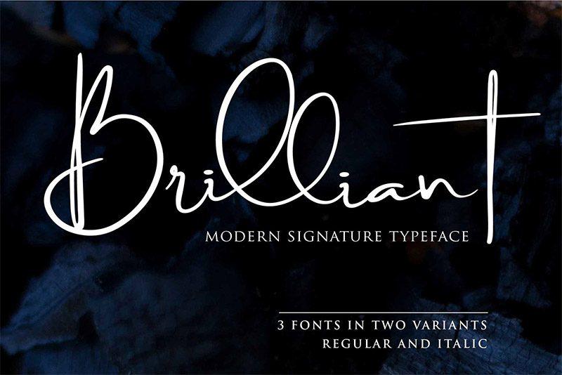 Brilliant-Signature-Typeface