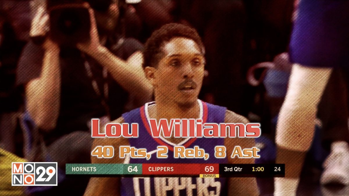 Lou Williams 40 Pts, 2 Reb, 8 Ast