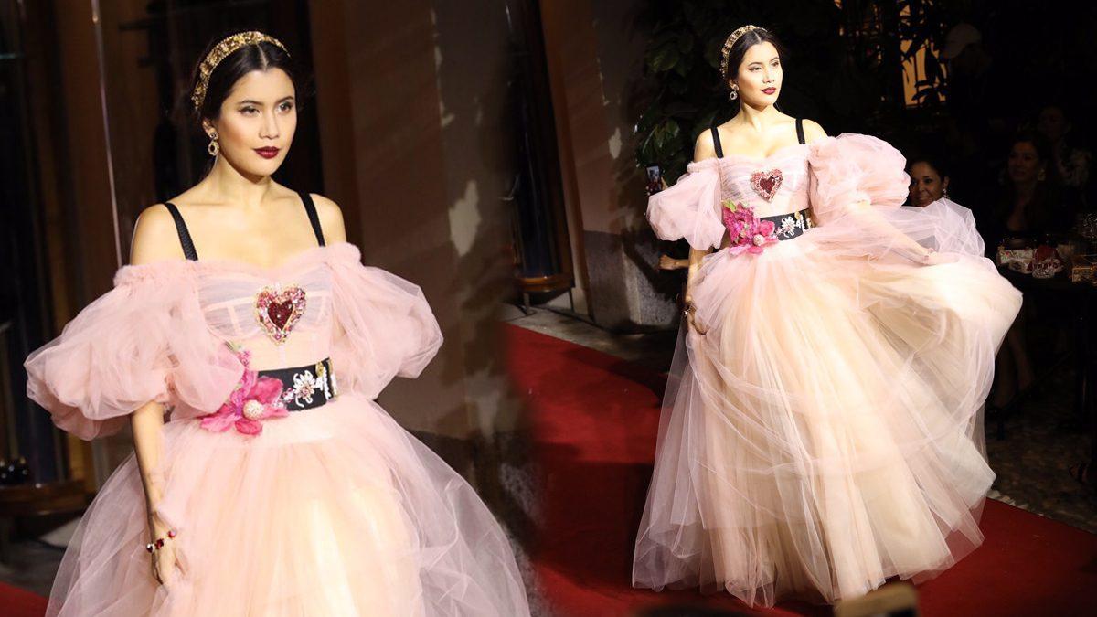 ปู ไปรยา บนพรมแดง Dolce & Gabbana ณ มิลาน แฟชั่น วีค ประเทศอิตาลี