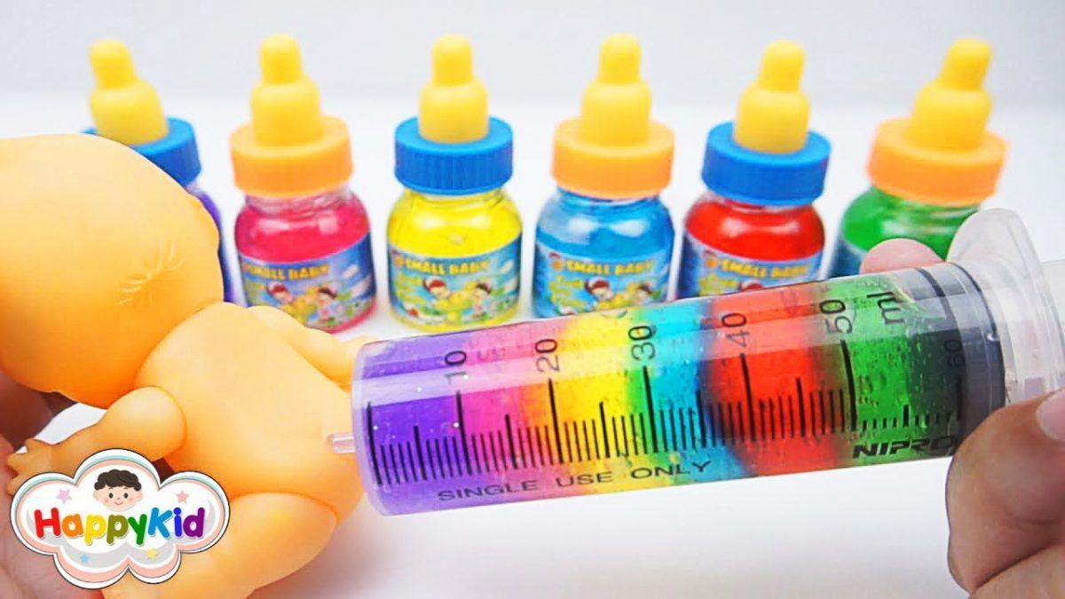 สไลม์เข็มฉีดยา | เข็มฉีดยาสีรุ้ง | เรียนรู้สี | Learn Colors With Slime Injection