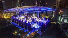 """""""ดินเนอร์ อินเดอะสกาย ประเทศไทย"""" ประสบการณ์รับประทานอาหารลอยฟ้าระดับ 5 ดาวหนึ่งเดียวในโลก"""