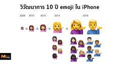 ชมวิวัฒนาการ 10 ปี emoji ใน iPhone ตั้งแต่ปี 2008-2018