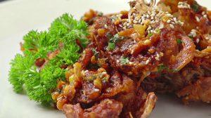 สูตร ปูนิ่มทอดซอสพริก อร่อยทั้งตัวตั้งแต่ก้ามยันกระดอง