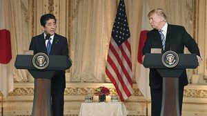 'ทรัมป์-อาเบะ' ถกเรื่องความมั่นคงที่ฟลอริด้า คงมาตรการกดดัน 'เกาหลีเหนือ'