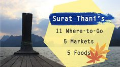 Surat Thani's 11 Where – to – Go 5 Markets and 5 Foods