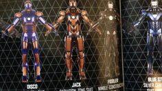 เผยภาพชุดเกราะ Iron man 3 ตั้งแต่ Mark1-Mark42 (ทุกตัว)
