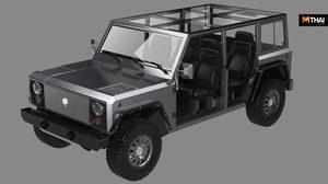 Bollinger B1 รถอเนกประสงค์ไฟฟ้า รุ่นใหม่ 4 ประตู หลังคาแก้วถอดออกได้