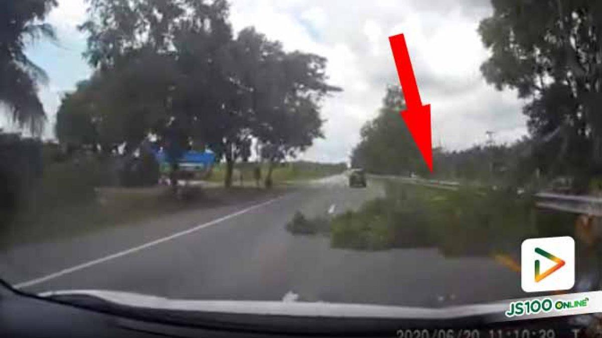 บางครั้งอุบัติเหตุก็ไม่ได้มาจากรถด้วยกัน สติจึงสำคัญ.. (20/06/2020)