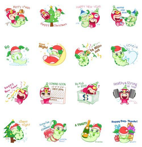 10 สติกเกอร์ Line เทศกาลคริสมาสต์