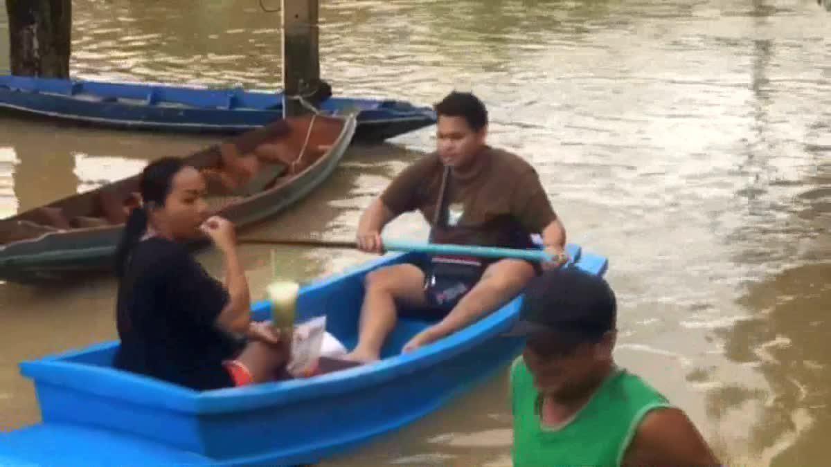 น้ำท่วมเขตเทศบาลเมืองคอน เพิ่มระดับสูงเรื่อยๆ