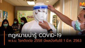 สรุปเรื่องน่ารู้ กฎหมายคุ้มครอง ไวรัสโคโรน่า 2019