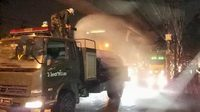 ทหารลงพื้นที่ นำรถบรรทุกน้ำเร่งฉีดพ่นบรรเทาฝุ่น