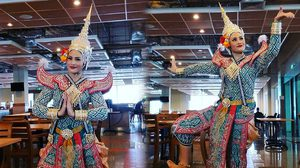 อรอนงค์ อดีตนางสาวไทย ร่วมซ้อมการแสดงโขน ในพระราชพิธีถวายพระเพลิงพระบรมศพ ในหลวง ร.9