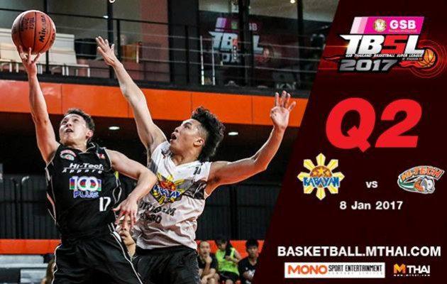 การแข่งขันบาสเกตบอล TBSL2017 คู่ที่5 Kabayan (Philippin) VS Hitech Q2 8/01/60