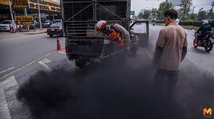 เจ้าหน้าที่เร่งตรวจวัดค่าควันดำ ลดฝุ่น PM 2.5