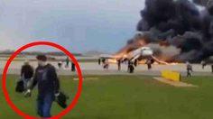 ดราม่าเตือนใจ ผู้โดยสารห่วงสัมภาระ ขวางทางหนีขณะเครื่องบินไฟลุกไหม้